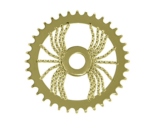bike Lowrider Spider Twisted Steel Chainring 1/2 X 1/8 36t Gold