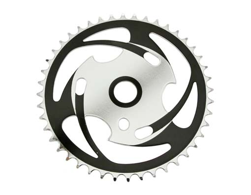 Sprocket Js77 44t 1/2 X 1/8 Chrome/Black.