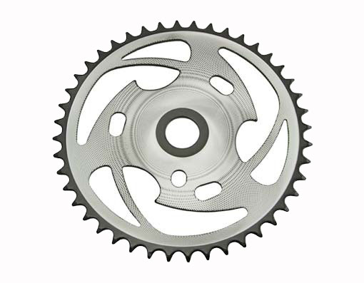 Bike Sprocket Zt7b-d 44t 1/2 X 1/8 Chrome/Black. 137731