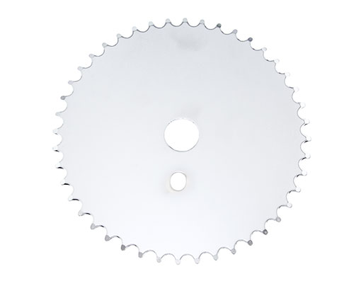 Bike Steel Sprocket JS-67 1/2 X 1/8 44t Chrome. 137759