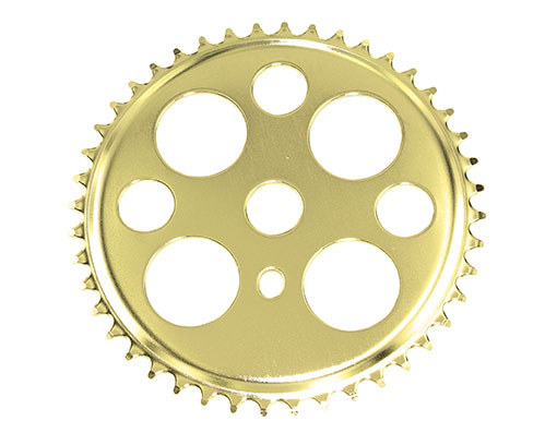 Bike Lucky 7 Steel Sprocket 1/2 X 1/8 44t Gold. 137804