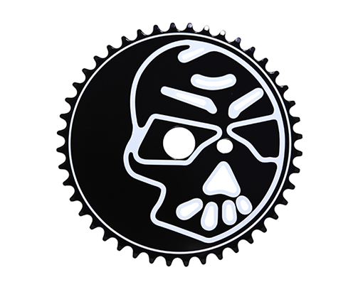 Bike Steel Sprocket Skull 1/2 X 1/8 44t Black/White. 137818