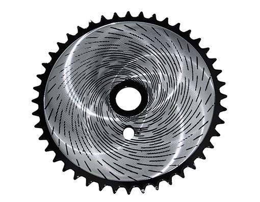 Bike Sprocket Tornado-2 44t 1/2 X 1/8 Chrome/Black. 137820