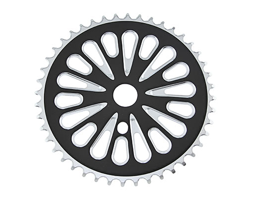 Bike Steel Sprocket 337-1 1/2 X 1/8 44t Chrome/Black. 137839