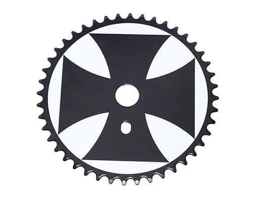 Bike Iron Cross Steel Sprocket 1/2 X 1/8 44t White/Balck. 137850