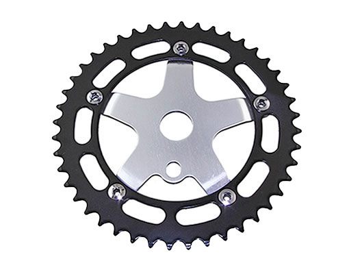 Bike Alloy Sprocket 913A 1/2 X 1/8 44t Black/Chrome. 137868