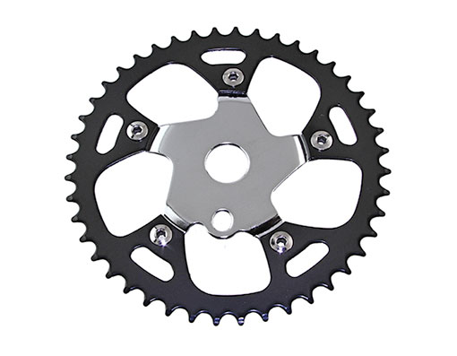 Bike Steel Sprocket 913B 1/2 X 1/8 44t Black/Chrome. 137872