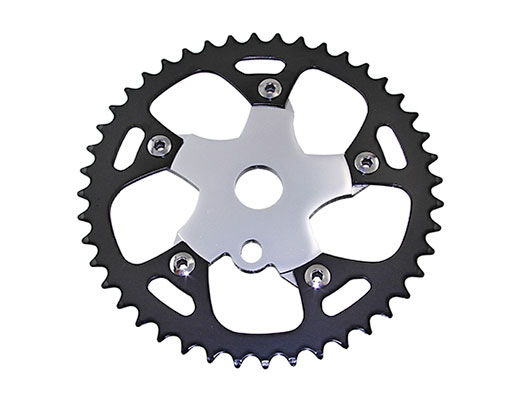 Bike Alloy Sprocket 913B 1/2 X 1/8 44t Black/Chrome. 137876