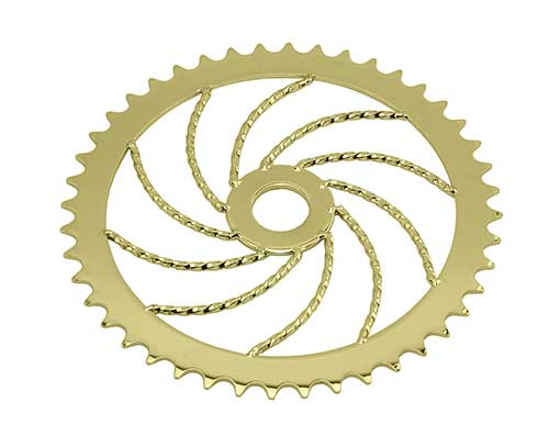 Lowrider Twisted Steel Chainring 1/2 X 1/8 44t S-60 Gold.