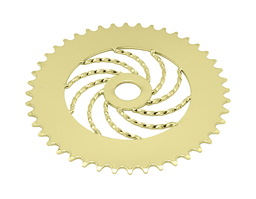bike Lowrider Twisted Steel Chainring 1/2 X 1/8 44t Gold