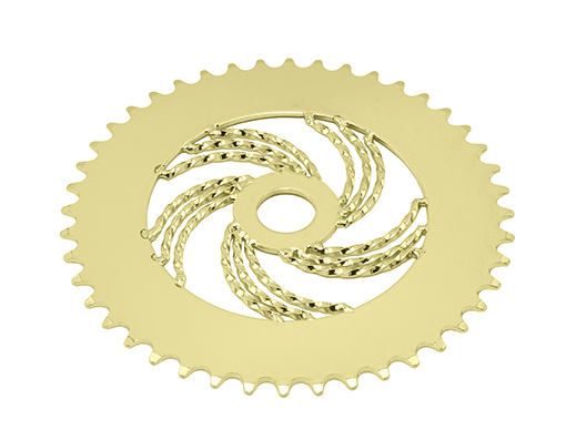 bike Lowrider Triple Twisted Steel Chainring 1/2 X 1/8 44t Gold