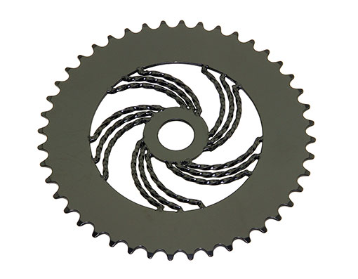 bike Lowrider Triple Twisted Steel Chainring 1/2 X 1/8 44t Black