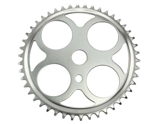 Sprocket W/4 Circles 46t 1/2 X 1/8 Chrome.