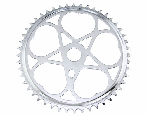 Bike Steel Sprocket Js-46 1/2 X 1/8 48t Chrome. 137942
