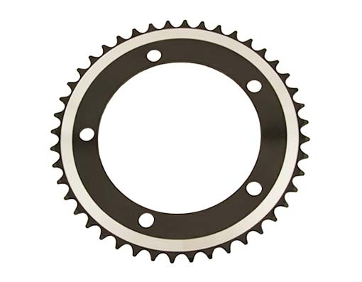 Alloy Chainring 1/2 x 1/8 44t Black.