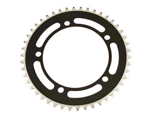Alloy Chainring 1/2 x 1/8 46t Black.