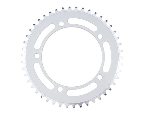 Alloy Chainring 1/2 x 1/8 46t White.