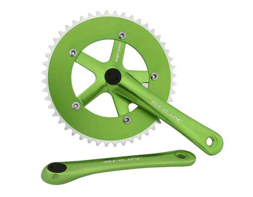 Bicycle Alloy Chainwheel Set 48T x 170mm Green.