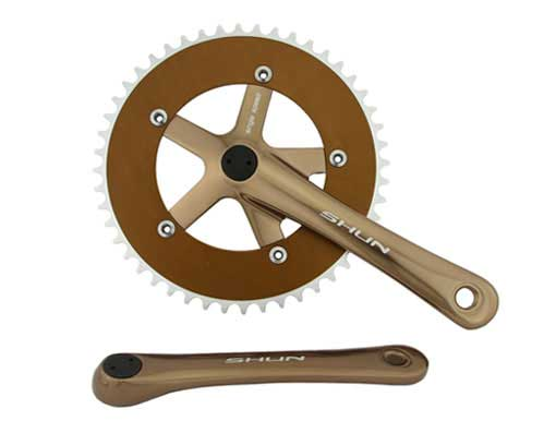 Bicycle Alloy Chainwheel Set 48T x 170mm Brown