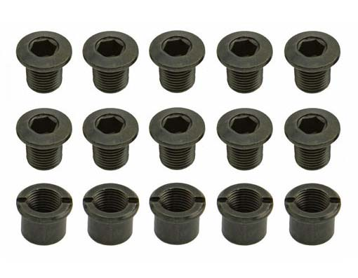Bicycle Chainwheel Bolt Triple Black.