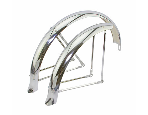 """Bicycle Fender Set 20/"""" Flared Standard Hollow Trike Conversion Kit Chrome NEW"""