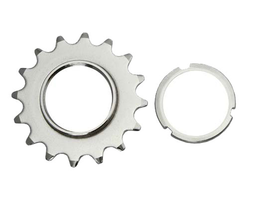 16T Track Fix Cog 1/8 Chrome Bicycle.