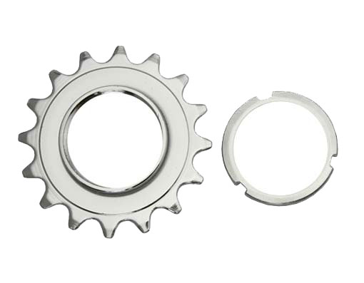 16T Track Fix Cog 3/32 Chrome Bicycle.
