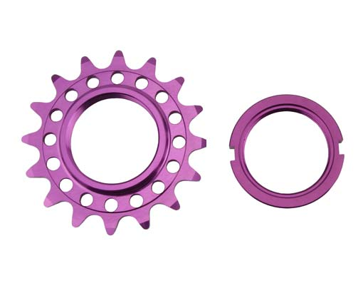 Bicycle Alloy Track Fix Cog 16T 1/8 Purple.