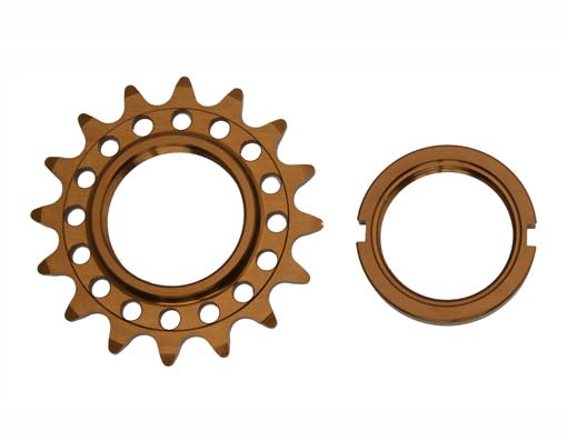 Bicycle Alloy Track Fix Cog 16T 1/8 Brown.