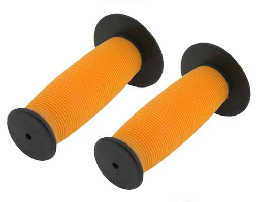 Bicycle Mushroom Grips Black/Orange.