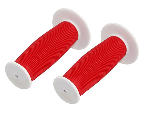 Bike Mushroom Grips White/Red. 163200