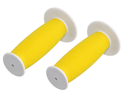 Bike Mushroom Grips White/yellow. 163208