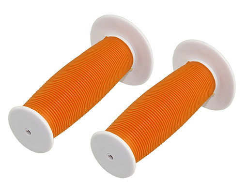 Bike Mushroom Grips White/Orange. 163210
