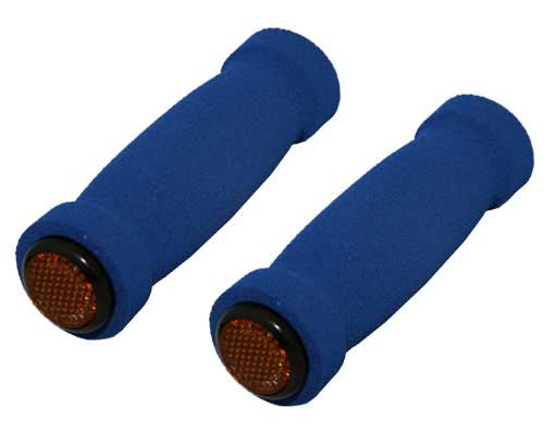 Short Foam Bicycle Grips Blue.