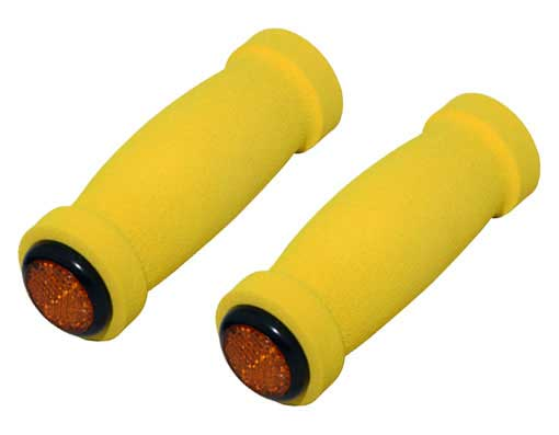 Short Foam Bicycle Grips Yellow.