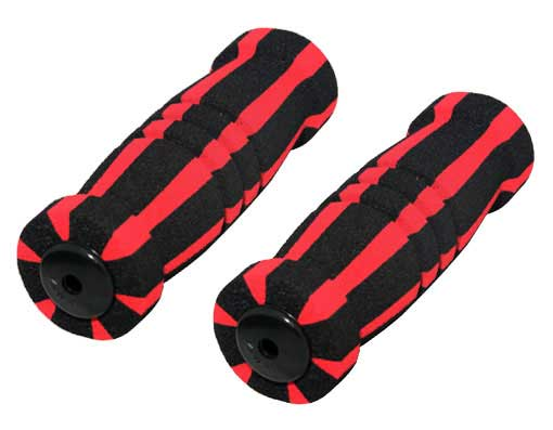 Foam Grips Black/Red.