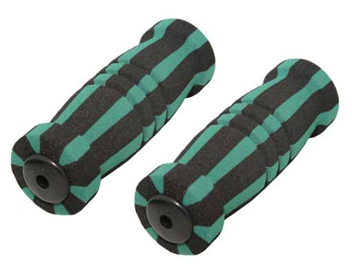 Foam Bicycle Grips Black/Green.