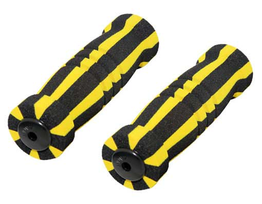 Foam Bicycle Grips Black/Yellow.