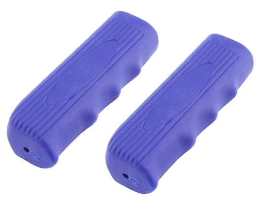 Lowrider Bicycle  Custom Grips Kraton Rubber Blue.