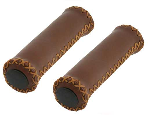 Grips bike Leather Brown