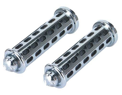 Bicycle Grips BLock Black/Chrome 9808 Eagle.