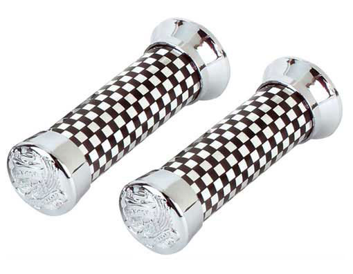 Bicycle Grips 279 Black/Chrome Eagle.