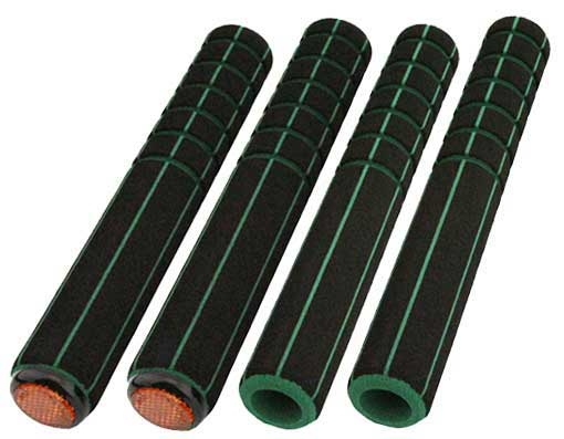 Road Foam Grips 4-Piece Set Black/Green.