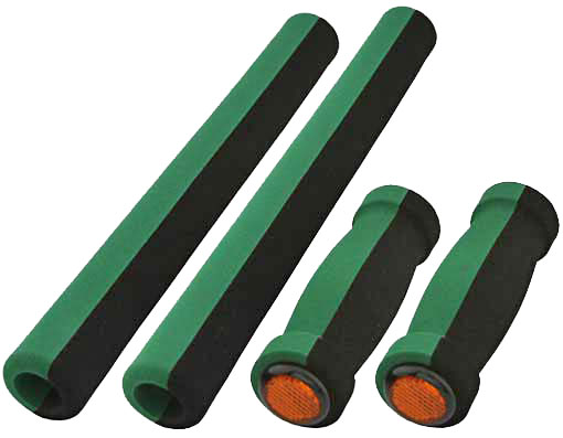 Cruisers Foam Grips 4-Piece Set Black/Green.