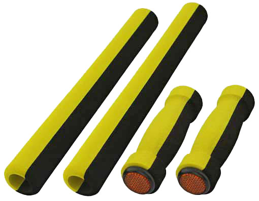 Cruisers Foam Grips 4-Piece Set Black/Yellow.