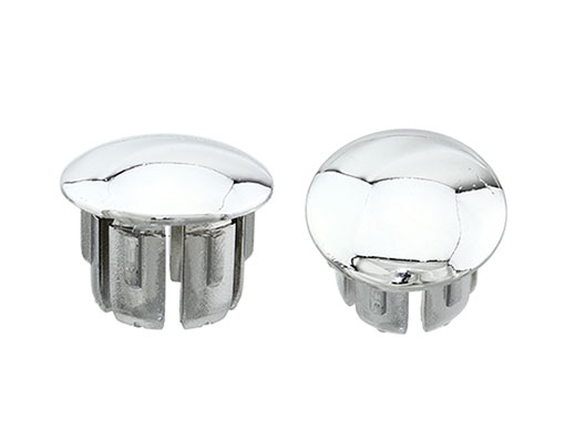 Bike Handlebar End Plugs Chrome. 165870