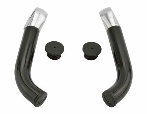 Bar End Bicycle 360 Alloy Black/Chrome.