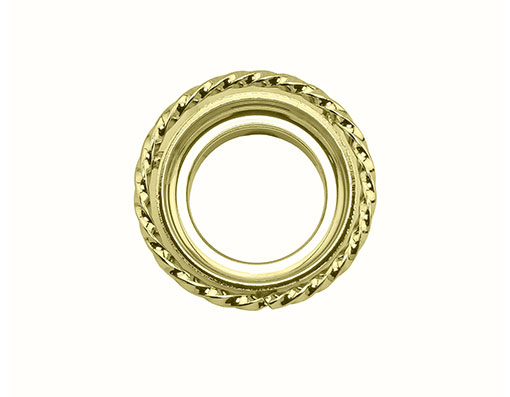 bike Lowrider Square Twisted Headset Cup Gold