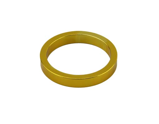 Headset Spacer Bicycle 1-1/8 5mm Gold.