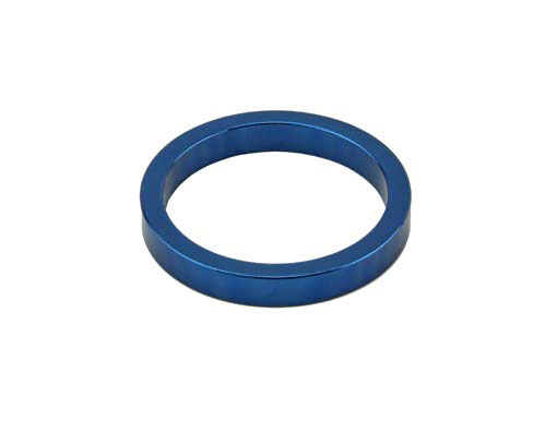 Headset Spacer Bicycle 1-1/8 5mm Blue.